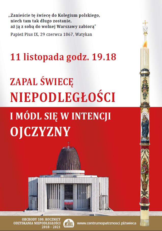 Poster swieca niepodległości