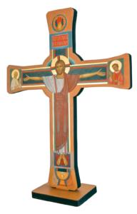 Krzyż Paschalny dwustronny strona chwalebna mały