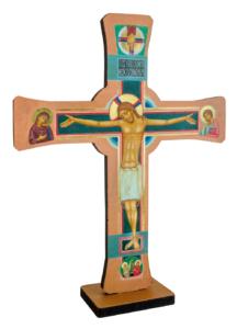 Krzyż Paschalny dwustronny strona pasyjna mały