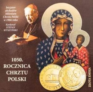 Złoty medal 1050. rocznica chrztu Polski