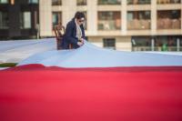 Otwarcie Muzeum Jana Pawła II i Prymasa Wyszyńskiego flaga